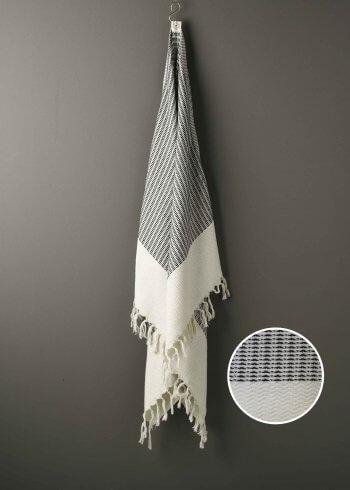 Produktbillede af strandhåndklæde i sort