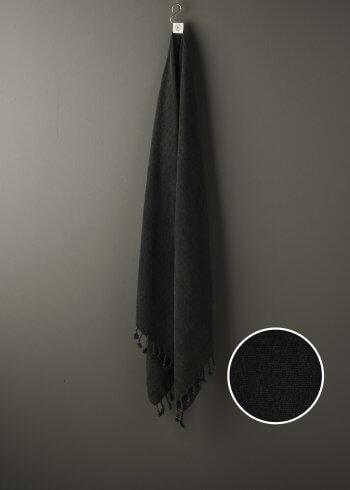 Produktbillede af sort strandhåndklæde