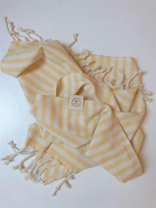 Produktbillede gæstehåndklæde santorini gul