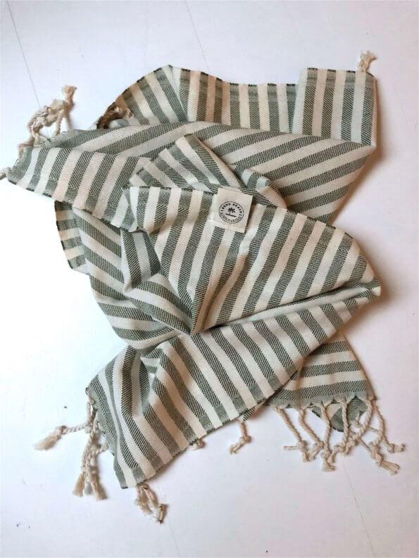 Produktbillede gæstehåndklæde santorini grøn