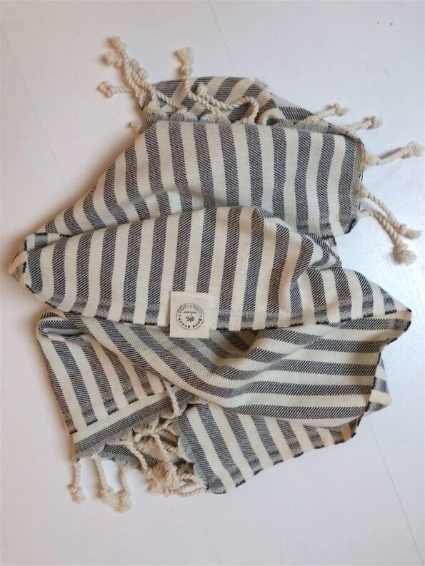 Produktbillede gæstehåndklæde santorini sort