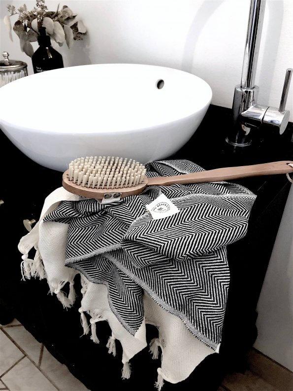 Gæstehåndklæde SaintTropez hammam sort
