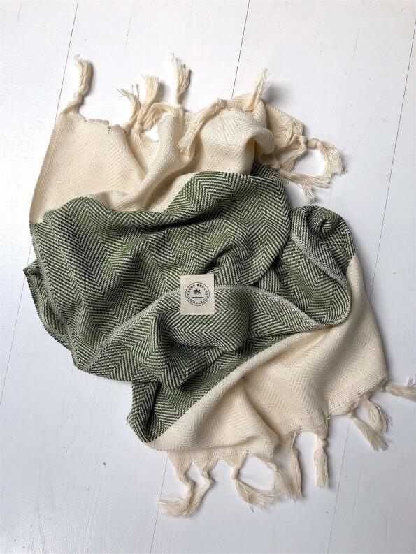 Produktbillede Saint-Tropez gæstehåndklæde i olivengrøn
