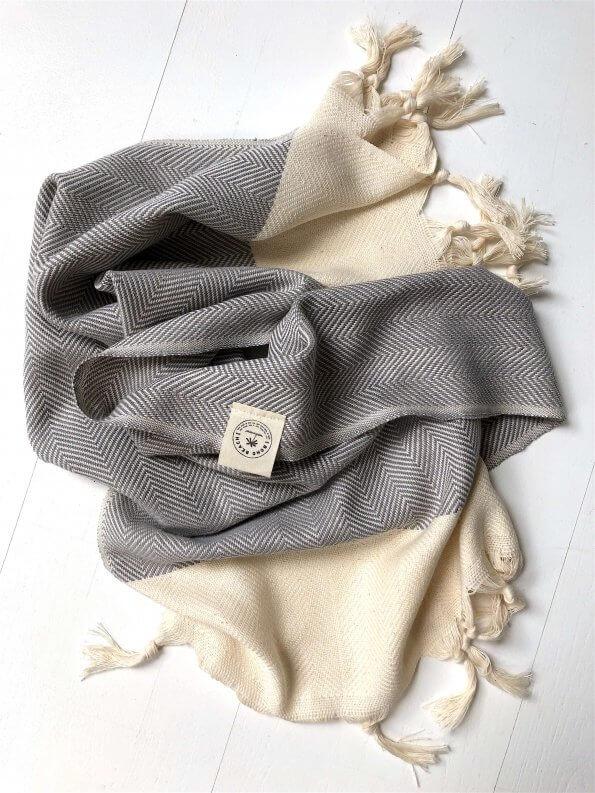 Produktbillede gæstehåndklæde sildebensmønster